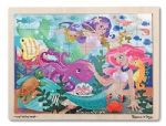 CHILDRENS CHILD MELISSA AND DOUG WOODEN MERMAID FANTASEA JIGSAW PUZZLE
